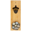 Bamboo Bottle Opener with Magnetic Catch (#20-2424) - Self-Promo