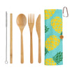 Bamboo Take-Along Utensil Roll - Pineapple (#20-2427)