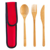 Bamboo Flatware Set - Red (#20-2429)