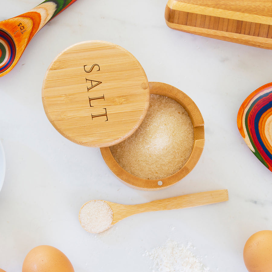 "Little Dipper Salt Box with Spoon ""Salt"" (#20-2470) - Self-Promo"