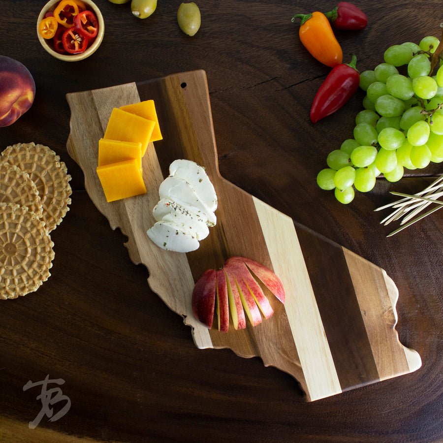 California State Shiplap Serving & Cutting Board  (#20-2604)