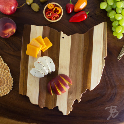 Ohio State Shiplap Serving & Cutting Board  (#20-2610)