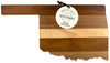 Oklahoma  State Shiplap Serving & Cutting Board  (#20-2613)