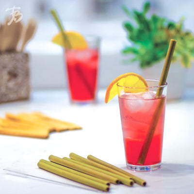 Reusable Bamboo Drinking Straws - Green  (#20-6731)