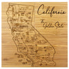 California Puzzle Coaster Set