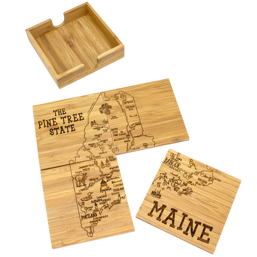 Maine Puzzle Coaster Set