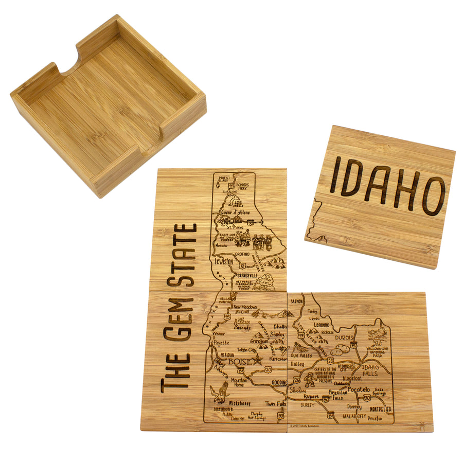 Idaho Puzzle Coaster Set
