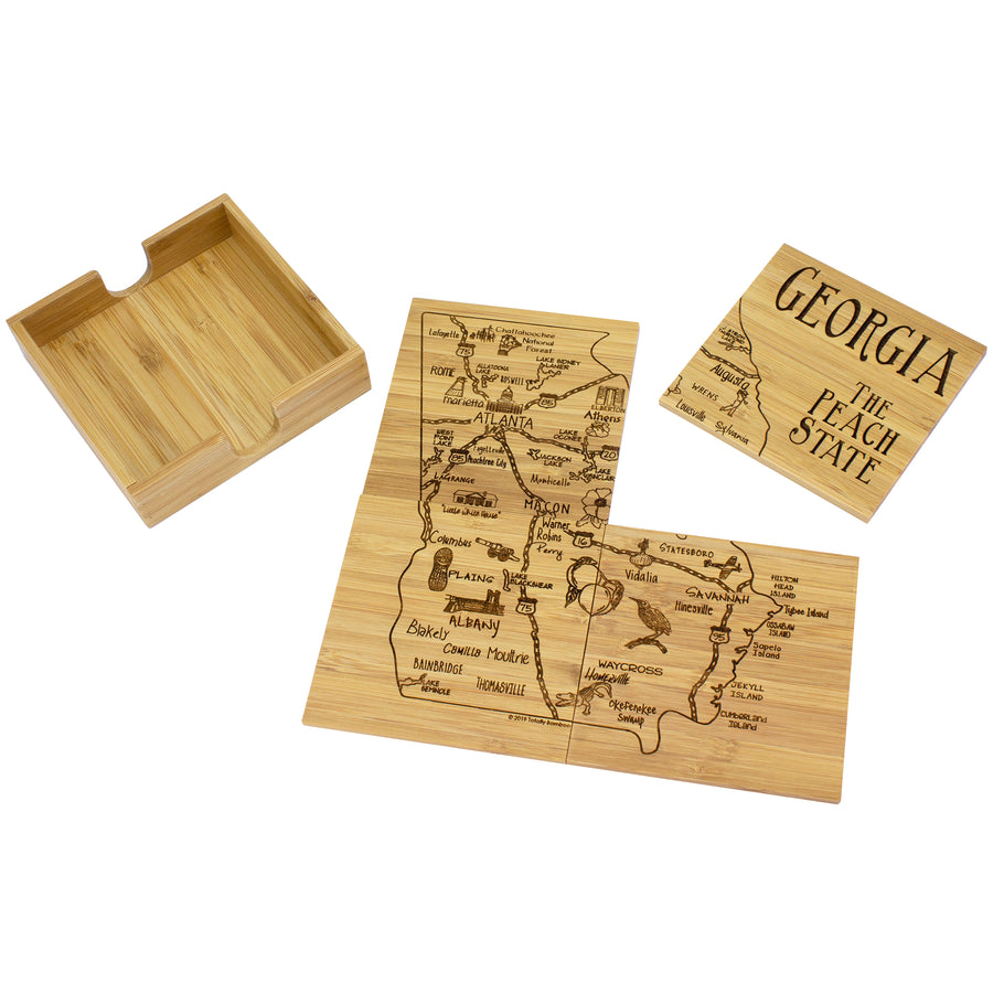 Georgia Puzzle Coaster Set
