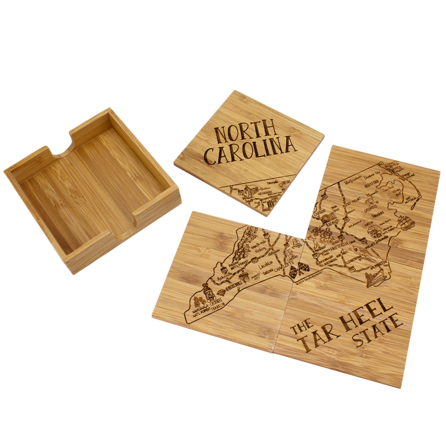 North Carolina Puzzle Coaster Set