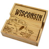 Wisconsin Puzzle Coaster Set (#20-6930)