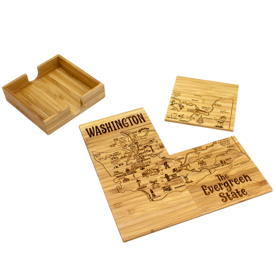 Washington Puzzle Coaster Set