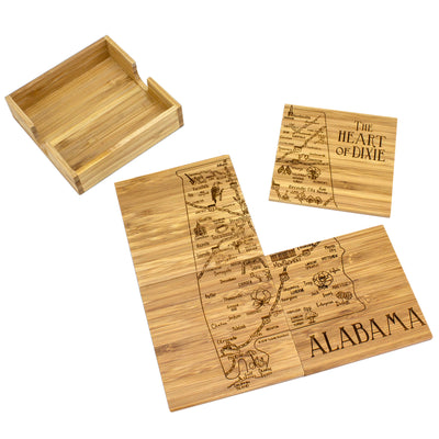 Alabama Puzzle Coaster Set  (#20-6932)