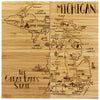 Michigan Puzzle Coaster Set