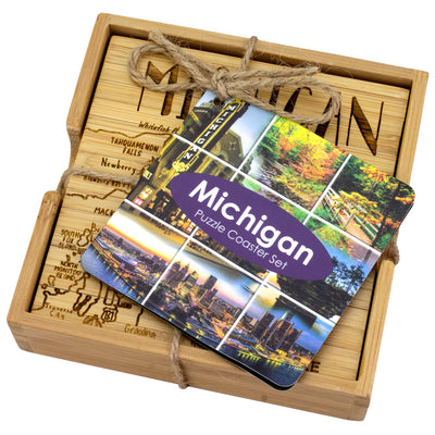 Michigan Puzzle Coaster Set  (#20-6933)