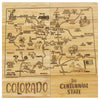 Colorado Puzzle Coaster Set  (#20-6936)