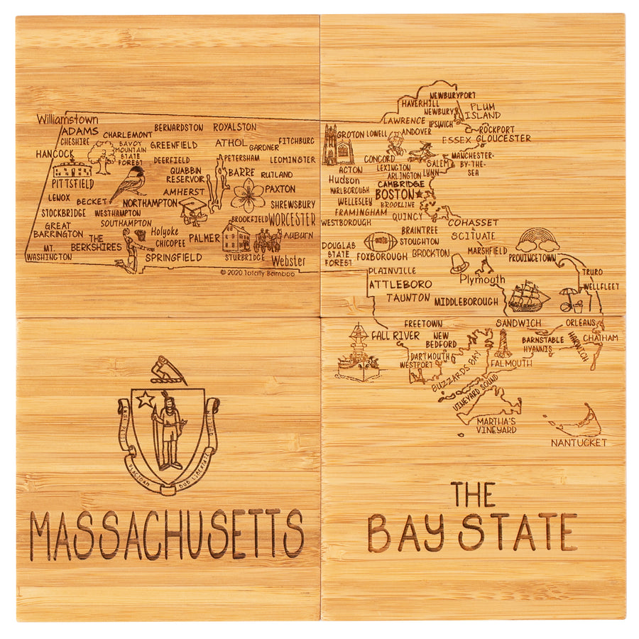 Massachusetts  Puzzle Coaster Set  (#20-6942)