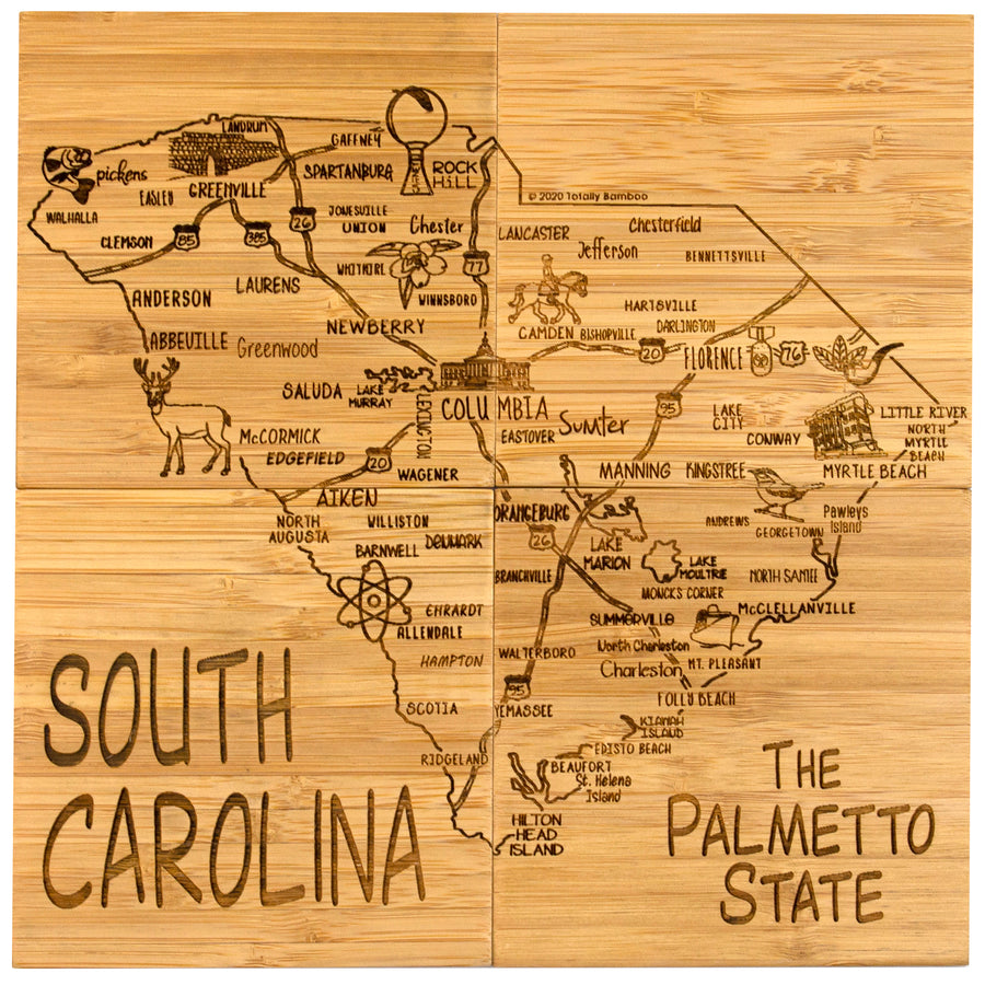 South Carolina  Puzzle Coaster Set  (#20-6944)