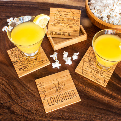 Louisiana  Puzzle Coaster Set  (#20-6945)