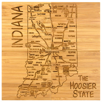 Indiana Puzzle Coaster Set  (#20-6946)