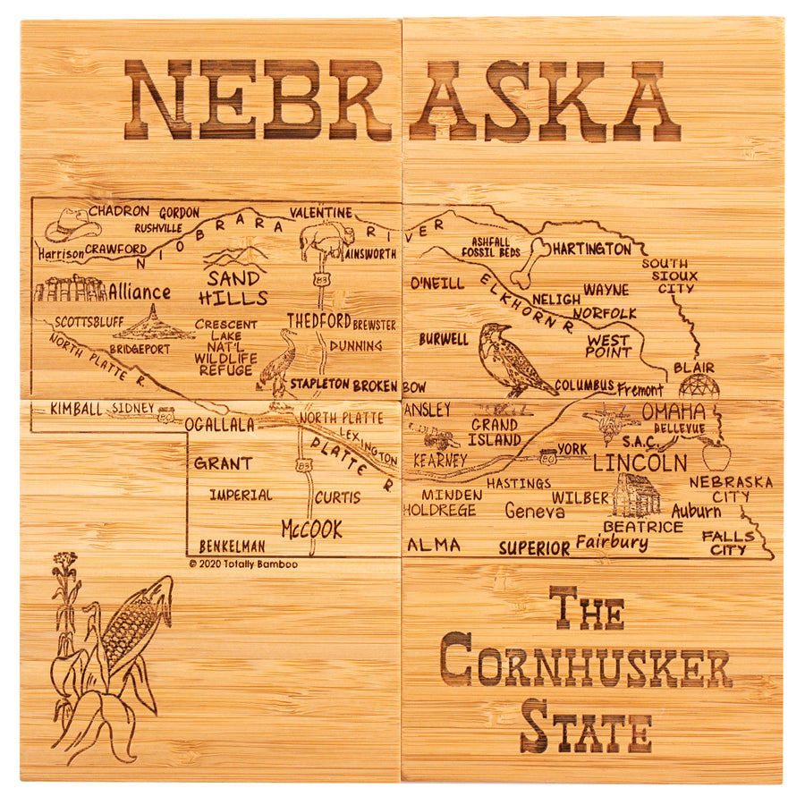 Nebraska Puzzle Coaster Set  (#20-6951)