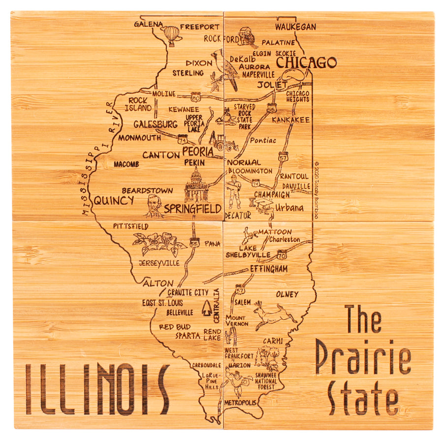 Illinois Puzzle Coaster Set  (#20-6952)