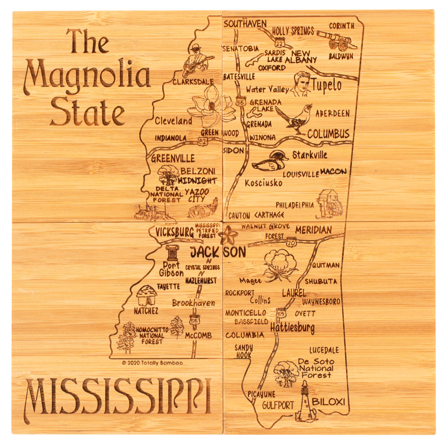 Mississippi Puzzle Coaster Set  (#20-6956)