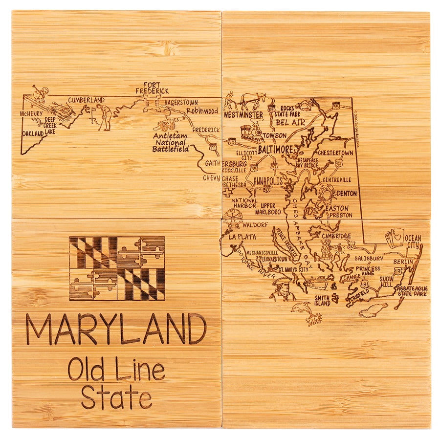 Maryland  Puzzle Coaster Set  (#20-6957)