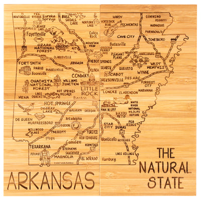 Arkansas Puzzle Coaster Set  (#20-6958)