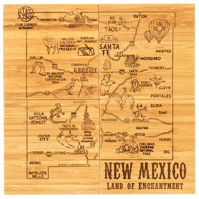 New Mexico  Puzzle Coaster Set  (#20-6961)