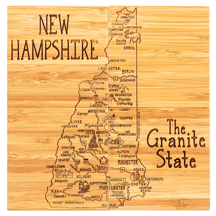 New Hampshire  Puzzle Coaster Set  (#20-6963)