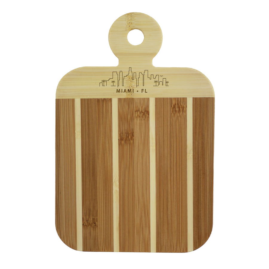 City Skyline Paddle Board - Miami Florida (#20-7608MIA) - Self-Promo
