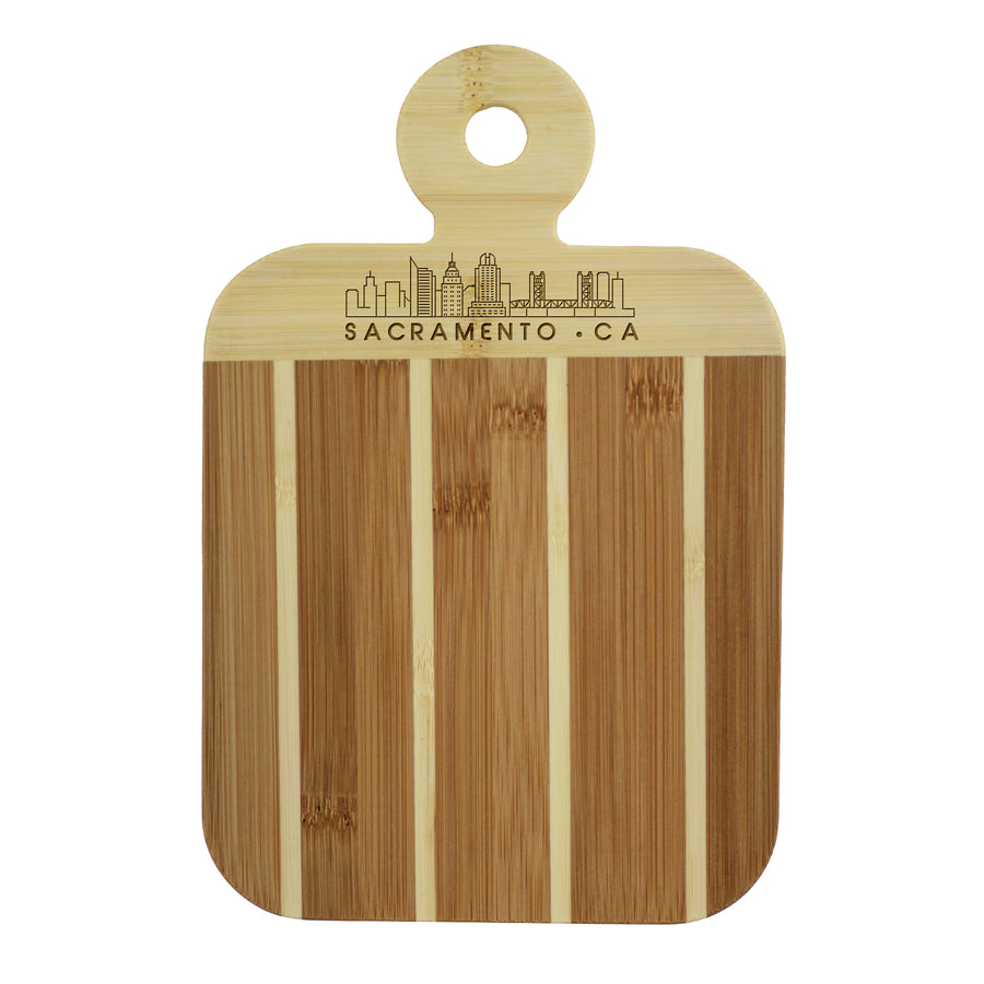 City Skyline Paddle Board - Sacramento California (#20-7608SAC) - Self-Promo
