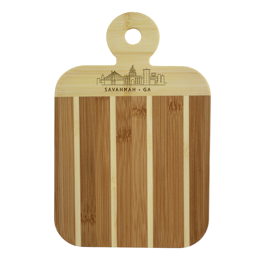 City Skyline Paddle Board - Savannah Georgia (20-7608SAV) - Self-Promo