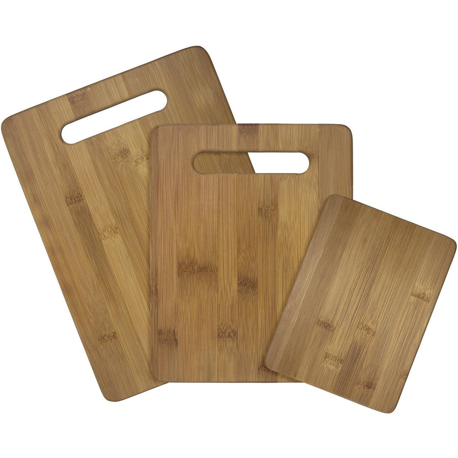 3 pc Bamboo Cutting Board Set - 2 handles   (#20-7930) - Sample
