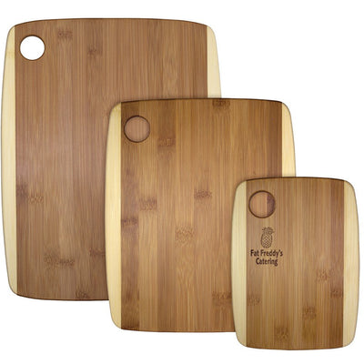 3 pc Two-Tone Cutting Board Set