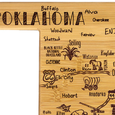 Destination Oklahoma Cutting & Serving Board  (#20-8071)