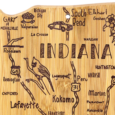Destination Indiana Cutting & Serving Board  (#20-8098)