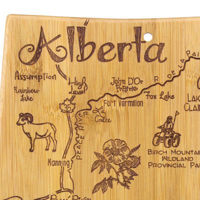 Destination Alberta Cutting & Serving Board  (#20-8130)