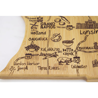 Destination Michigan (Mitten) Cutting & Serving Board  (#20-8147)