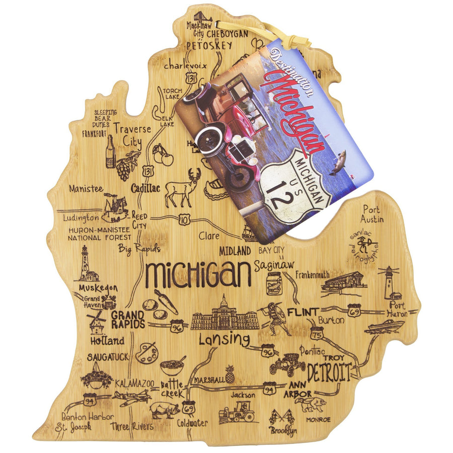 Destination Michigan (Mitten) Cutting & Serving Board