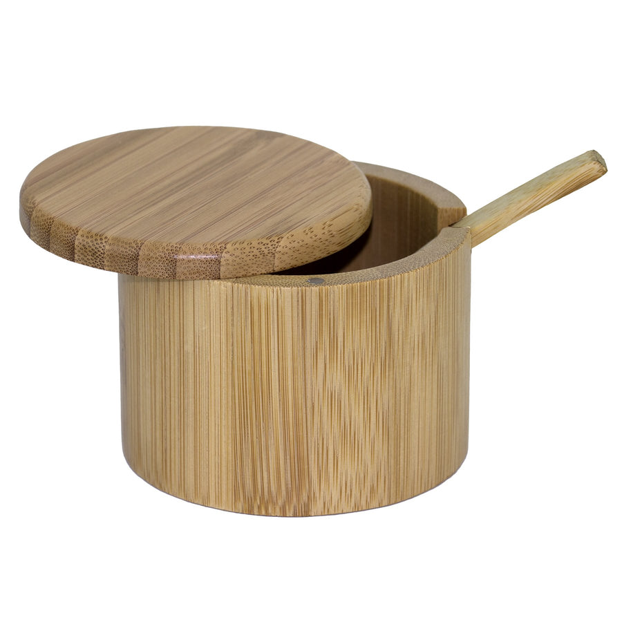 Little Dipper Bamboo Salt Box with Spoon