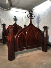 Antique Rare Meeks Period American Neo-Classical Empire Gothic Mahogany Bed 1840