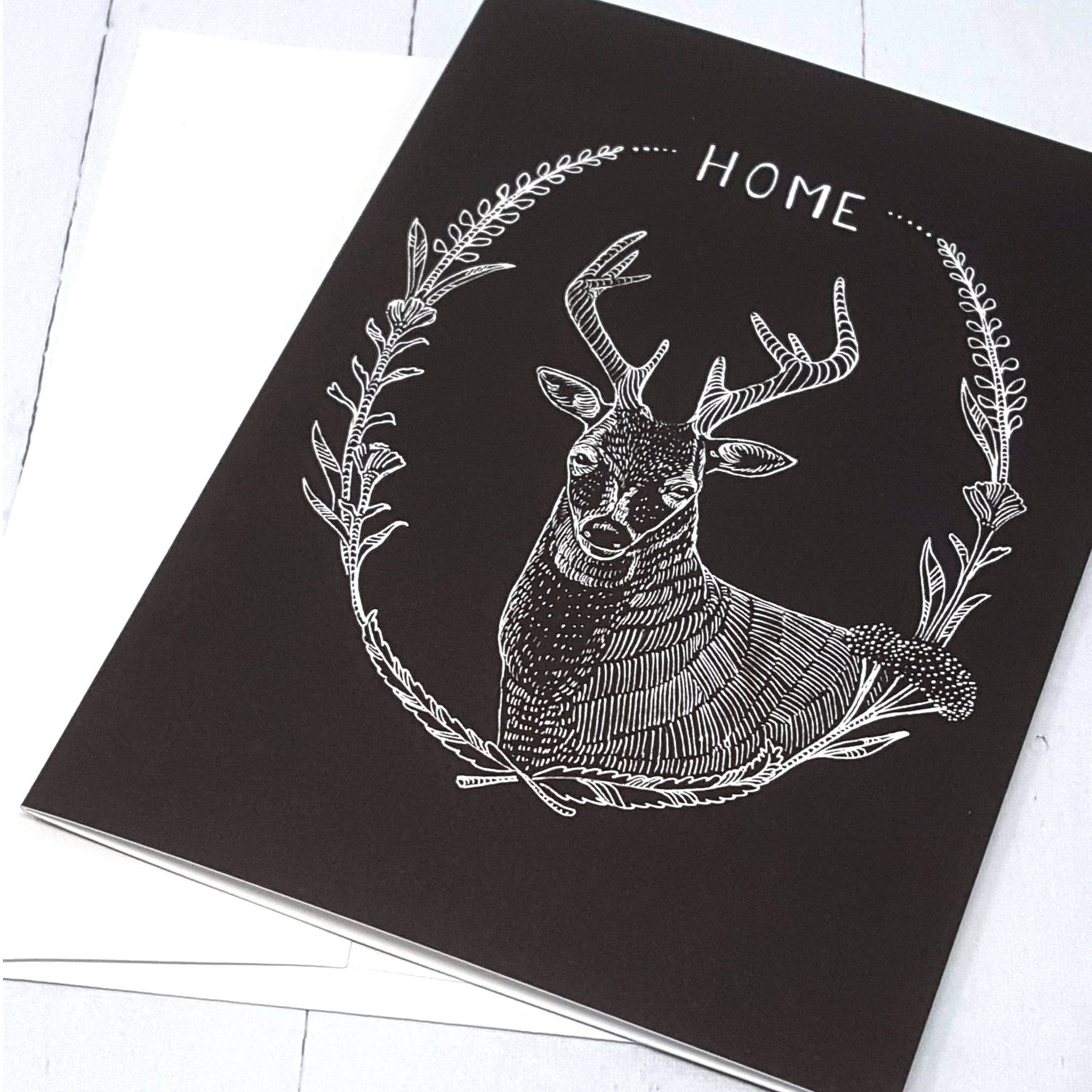 Deer Greeting Card Buck And Stag Card Greeting Card 5x7 Card