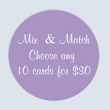 Mix and Match any 10 Blank Greeting Cards and Envelopes