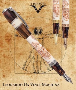 Leonardo Da Vinci 500th Anniversary La Machina Limited Edition Fountain Pen and Roller Ball