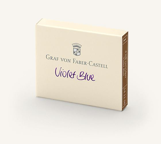 Graf von Faber Castell Guilloche Violet Blue Ink Cartridges / Bx 6