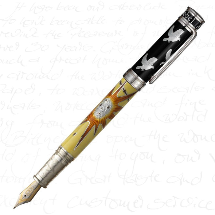 David Oscarson Alfred Bernhard Nobel Yellow Pen