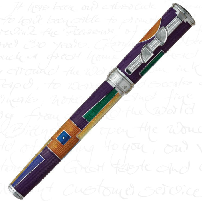 David Oscarson American Art Deco Violet Pen