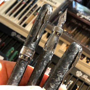 Pineider Mystery Filler Fountain Pen - Forged Carbon