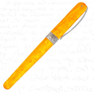 Pineider Avatar Saffron Yellow Rollerball Pen